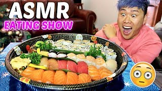 BEST Sushi Buffet ASMR MUKBANG (Eating Show) WITH REAL SOUNDS!!!!