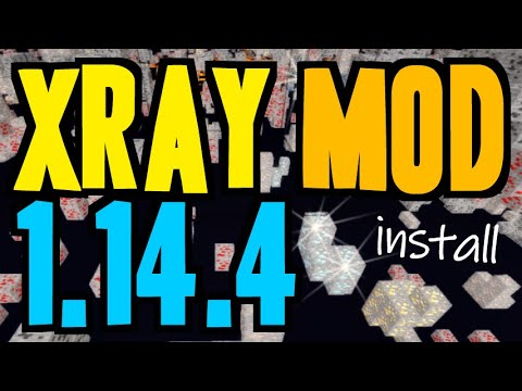 XRAY MOD 1.14.4 Minecraft - How To Download & Install X Ray 1.14.4 (no Forge On Windows)