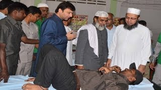 Milad un Nabi (SWS): Akbaruddin Owaisi MIM Leader inaugurates blood donation camp