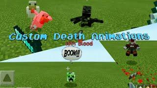 Custom Death Entities Animations Addon for MCPE!