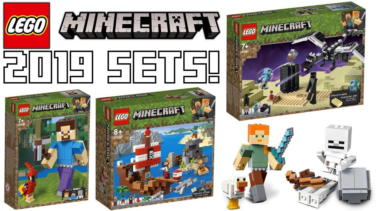 lego minecraft winter 2019 set pictures youtube. Black Bedroom Furniture Sets. Home Design Ideas