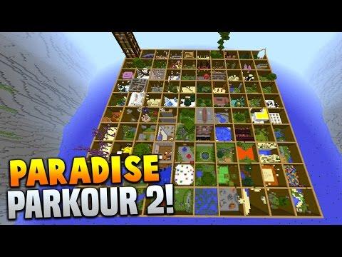 Minecraft PARADISE PARKOUR 2! (Over 100 Stages & Hour Long Parkour Map!) w/PrestonPlayz & Vikkstar