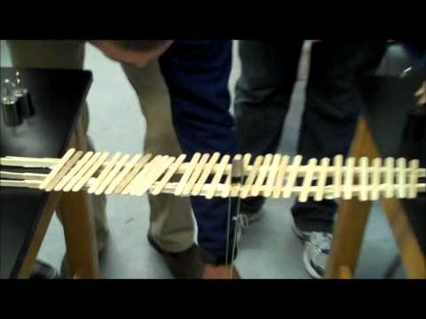 how to build a bridge using 100 popsicle sticks