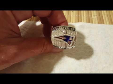 2001 New England Patriots Super Bowl ring
