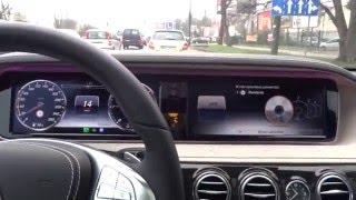 2015 Mercedes-Benz S-Class W222  Distronic Plus Adaptive Cruise Control Test Aktywnego Tempomatu