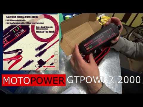 Зарядное устройство для мотоцикла MOTOPOWER GTPOWER2000 / Charger For Motorcycle