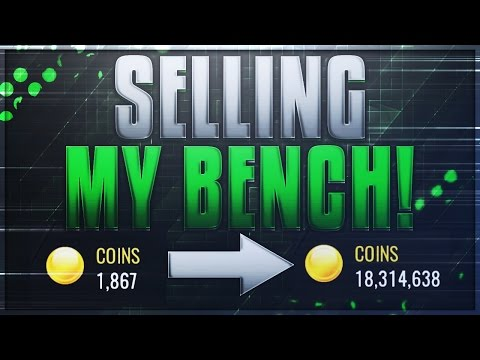 NBA LIVE MOBILE 1,000 TO 18,000,000 COINS IN 30 SECONDS! SELLING MY BENCH!