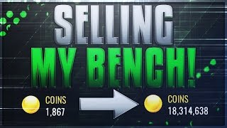 nba live mobile 1 000 to 18 000 000 coins in 30 seconds selling my bench