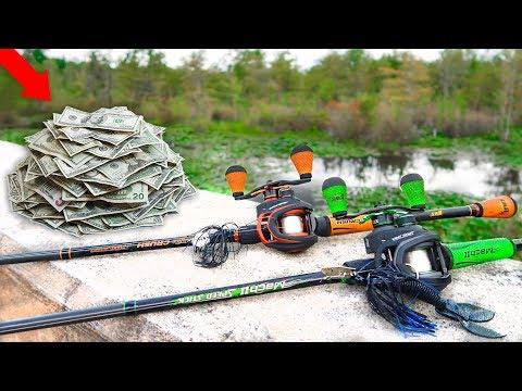 $30 RANDOM Lure Fishing Challenge! (Fall Kayak Bass Fishing)