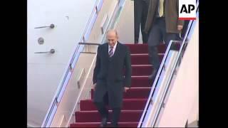 Israeli PM Ehud Olmert arrives for meetings with Chinese leaders