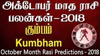 Kumbha Rasi (Aquarius) October Month Predictions 2018 – Rasi Palangal