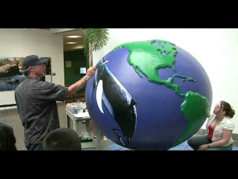 Wyland painting Cool Globe at SDHNM