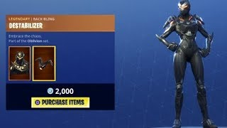 *NEW* OBLIVION SKIN Fortnite Item Shop 7th July