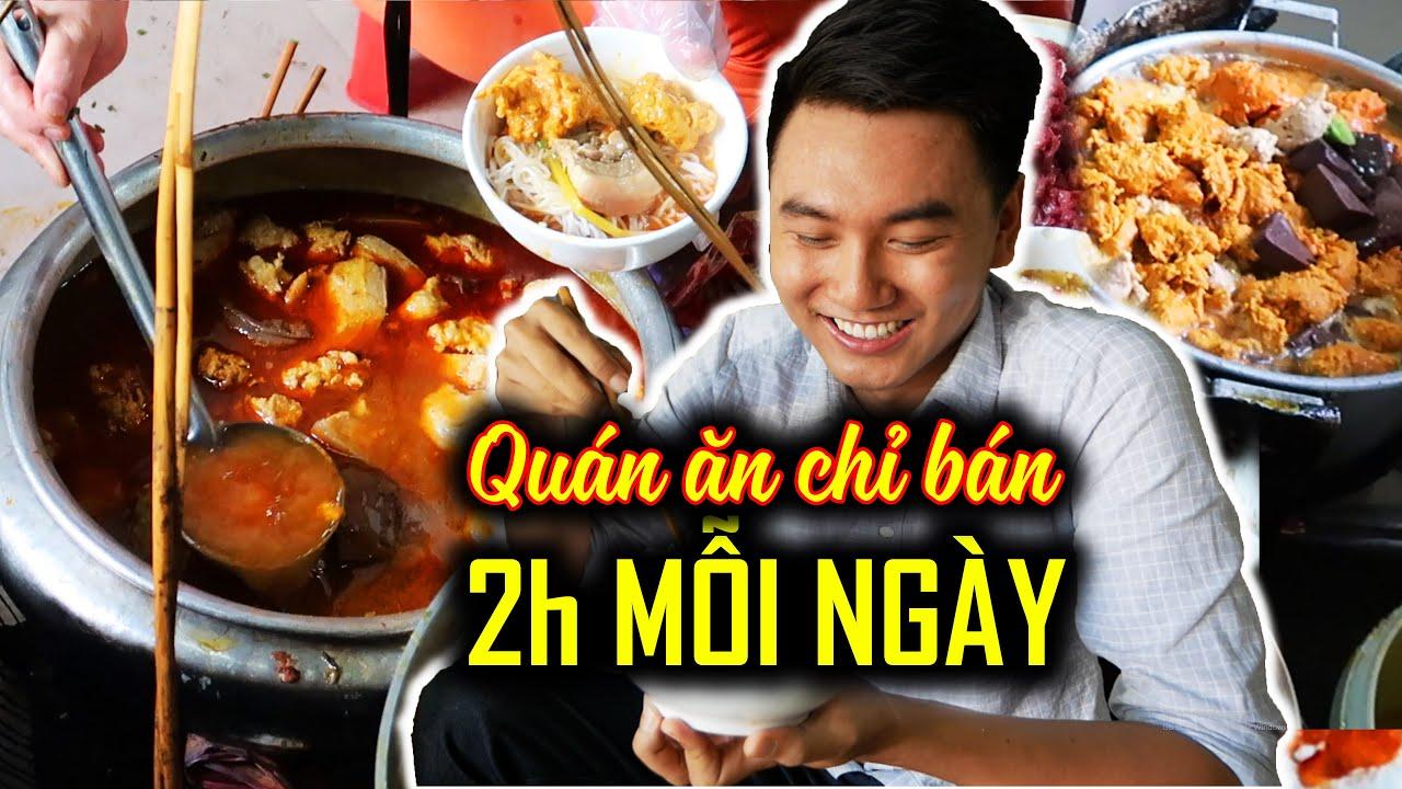 Du lịch ẩm thực Huế #3 |QUÁN ĂN 70 NĂM chỉ bán 2 tiếng mỗi ngày