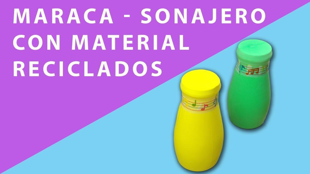 Maraca Sonajero Con Material Reciclado