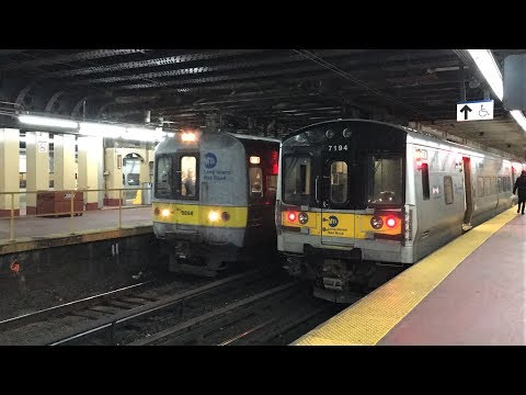 Long Island Rail Road HD 60fps: Afternoon M7 & M3 Trains @ New York Penn Station (2/9/18)