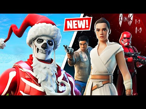 New YULE TROOPER Skin + STAR WARS Lightsaber Gameplay! (Fortnite Battle Royale)