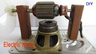 How to make mini  DC motors 12v with electric fan - Easy make powerful DC motor at home