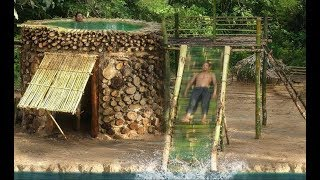 Survival Builder: Build Most Bamboo Water Slide From Swimming Pool