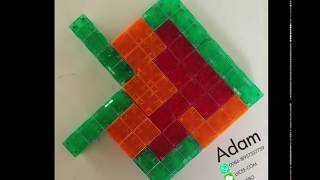 how to use magnetic Tetrics Magnetic Building Block to build a strawberry