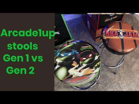 Arcade1up Stools Gen 1 vs Gen 2 from Basic Reviews by David