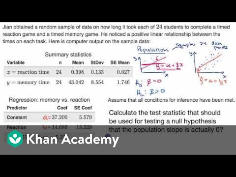 how to calculate simple linear regression