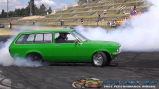 LETSFRY V8 GEMINI WAGON AT BURNOUT MANIA 2 SYDNEY DRAGWAY