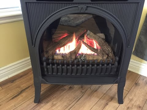 Valor Direct Vent Freestanding Gas Fireplace Start to Fire Installation