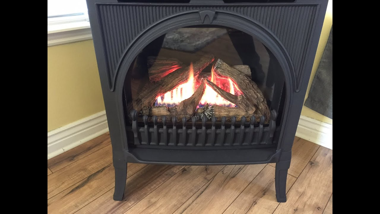 Valor Direct Vent Freestanding Gas Fireplace Start to Fire ...