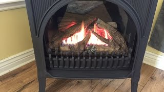 Valor Direct Vent Freestanding Gas Fireplace Start To Fire Installation Youtube