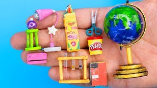 56 DIY BARBIE HACKS ~ MINIATURE SCHOOL SUPPLIES!