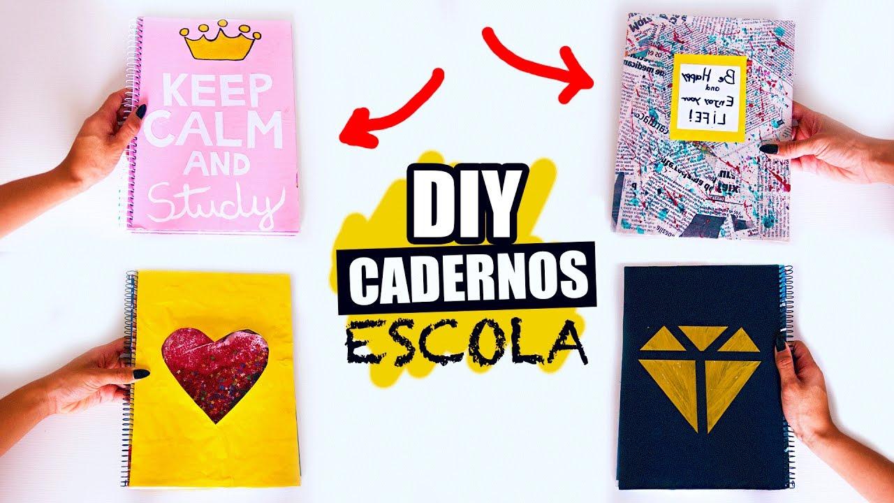 4 Diy Cadernos Tumblr Como Customizar Suas Capas Thalitatododia