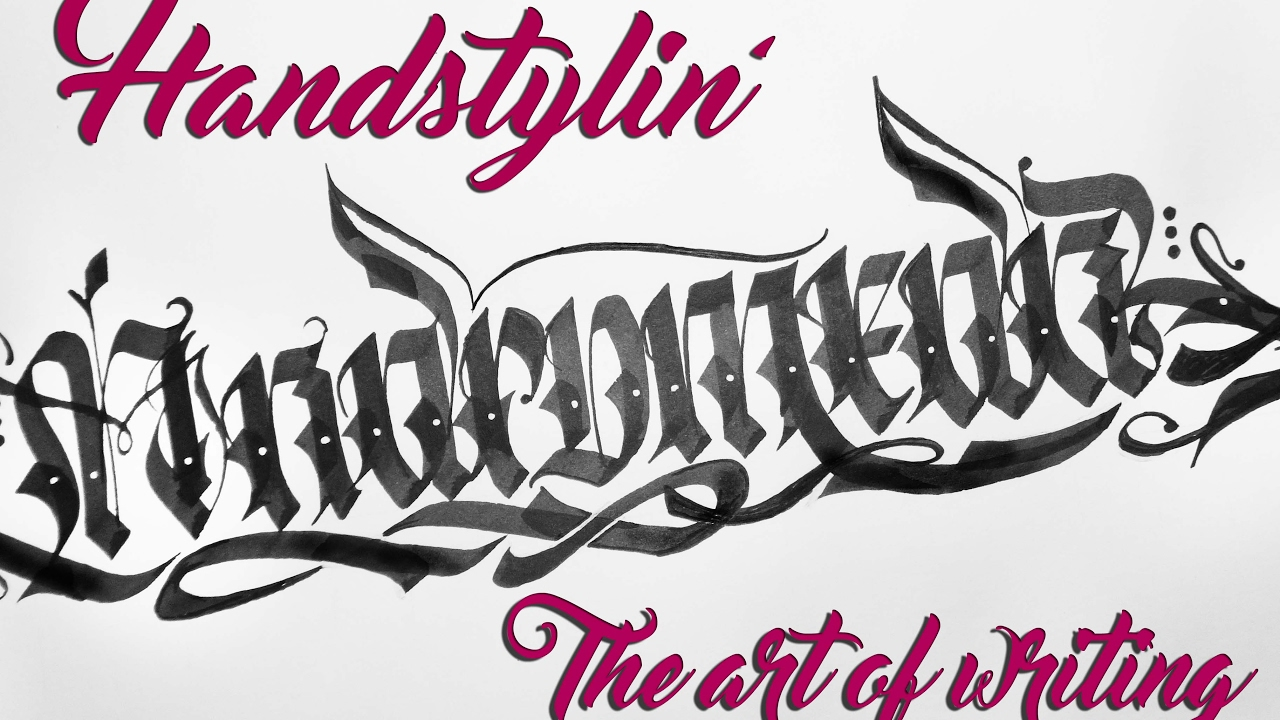 Handstylin 39 Graffiti Calligraphy Calligraffiti With