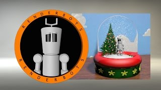 Cinema 4D Tutorial: Magic Snow / Christmas tree plugin : Create a Snow Globe