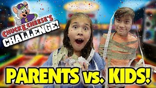 CHUCK E. CHEESE ARCADE CHALLENGE!!! Parents VS. Kids!