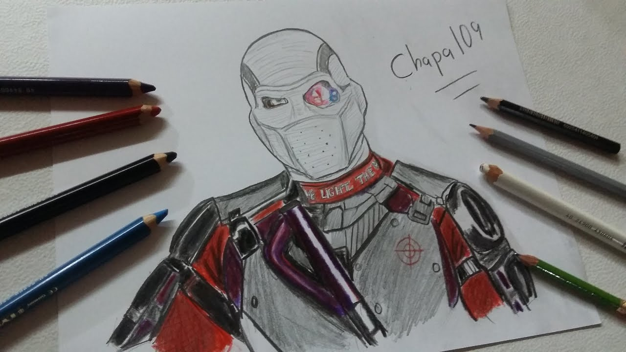 Deadshot Para Colorear: Dibujo De Deadshot: Suicide Squad/ Drawing Deadshot