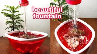How to make beautiful shower water fountain very easy