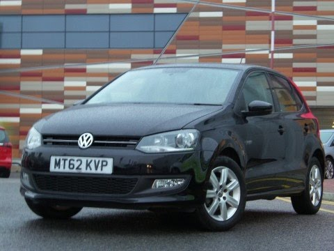 2012 62 Volkswagen Polo 1.2 60 Match 5dr In Black