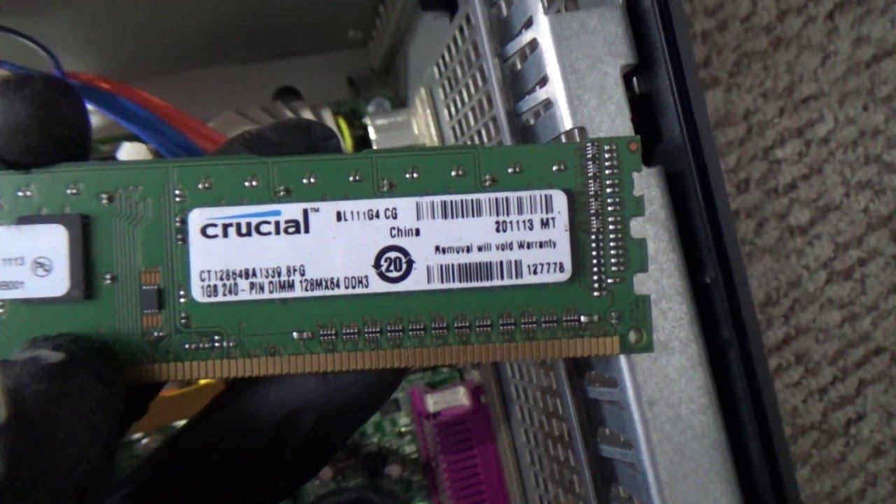DELL OPTIPLEX 780 Actualizando memorias ram