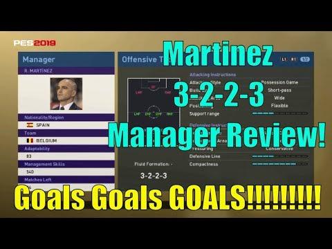 PES 2019 myClub   Roberto Martinez 3223 Manager Review