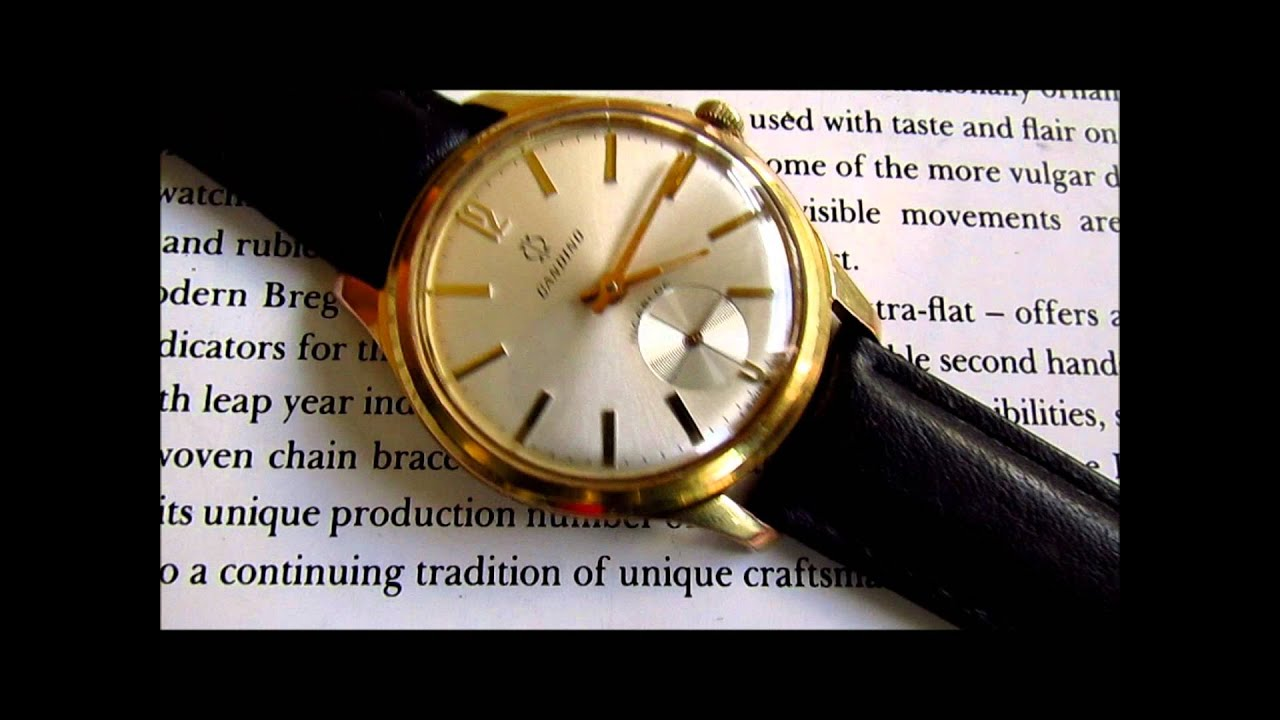 Second Hand Watches >> Candino 17 Jewels sub second vintage men's wristwatch - YouTube