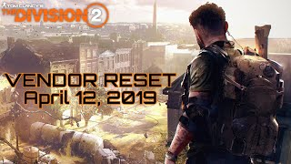 The Division 2 VENDOR RESET AWESOME WEAPONS GEAR MODS YOU