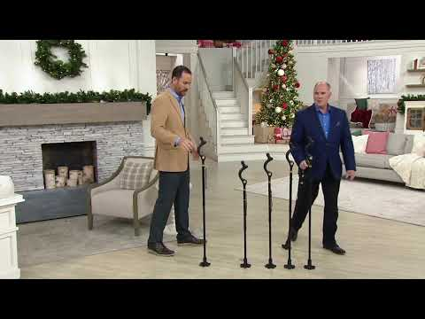 Campbell Posture Cane Adjustable Walking Cane Mobility Device on QVC