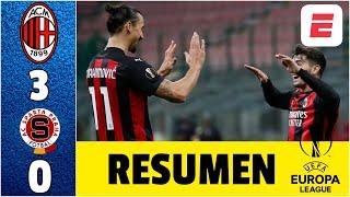 AC Milan 3-0 Sparta Praga. Zlatan FALLA penal pero racha invicta llega a 23 partidos | Europa League