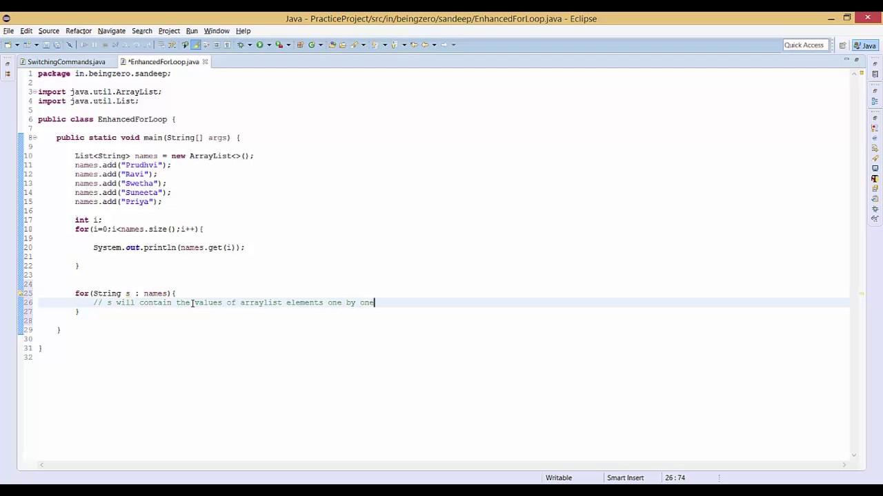 8 - 0 - Enhanced For Loop [Selenium-Java-Basic-To-Expert]