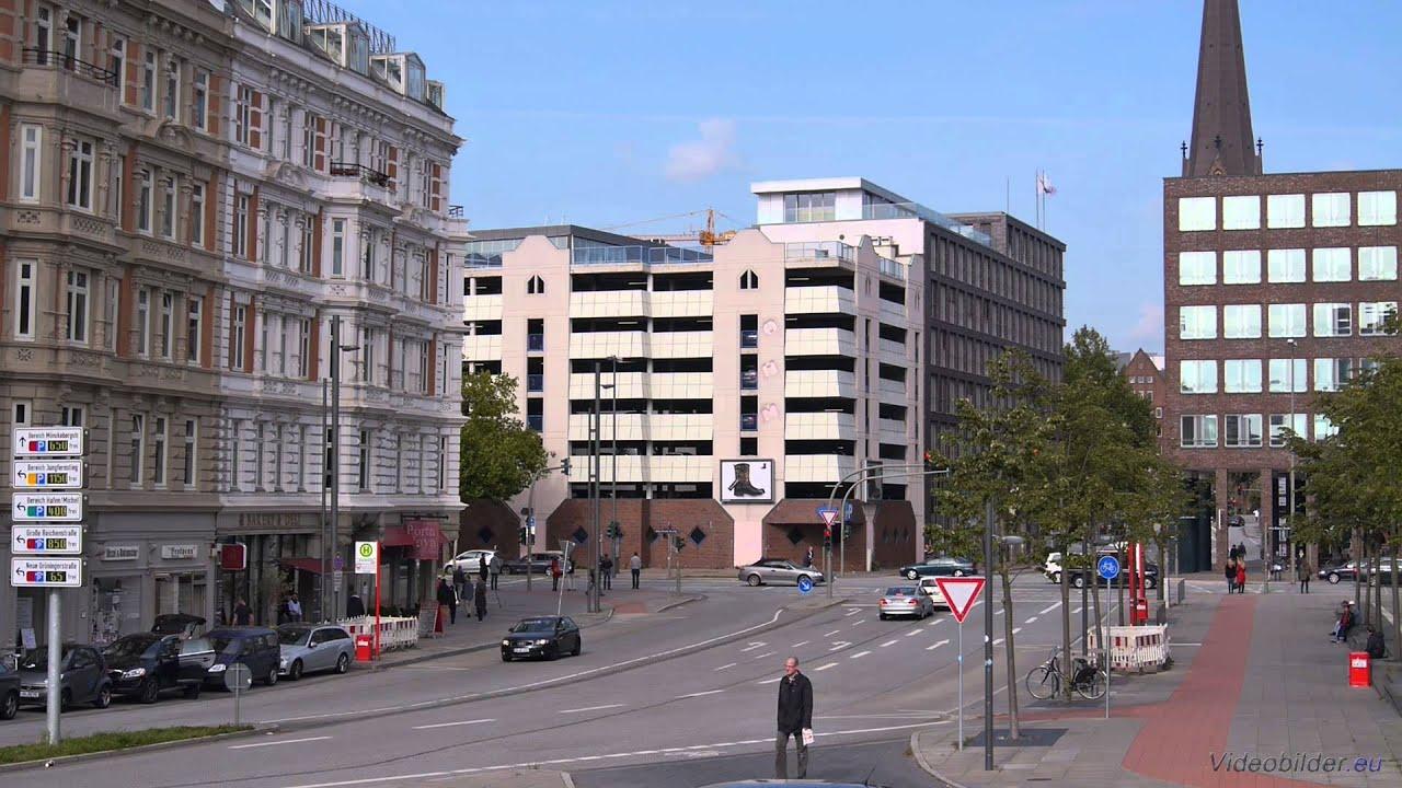 Hamburg Altstadt Blick Auf Brandstwiete Kreuzung Willy Brandt