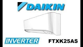 Видеообзор Кондиционера Daikin Miyora FTXK25AS Inverter