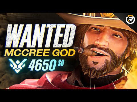 BEST OF WANTED - 900IQ MCCREE GOD | Overwatch Montage