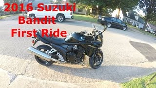Video 2016 Suzuki Bandit 1250 First Ride download MP3, 3GP, MP4, WEBM, AVI, FLV September 2018