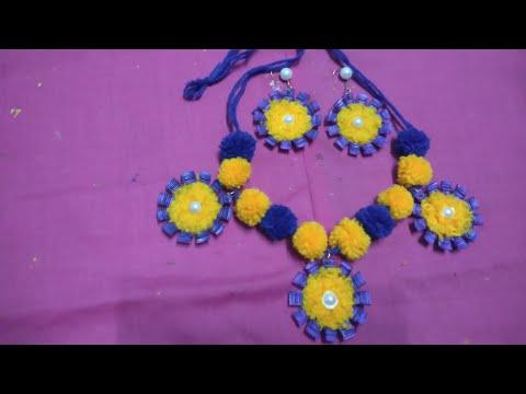 Navratri Special Jewellery Part 4#diy#handmade jewelry ideas#wool jewelry making#Tutorials necklace